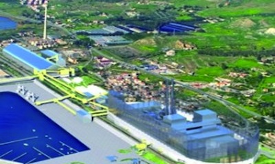 La Centrale di Saline Joniche (Reggio Calabria) in progetto.