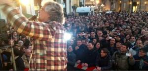 Tsunami Tour, Beppe Grillo a Catanzaro, 29 gennaio 2013.