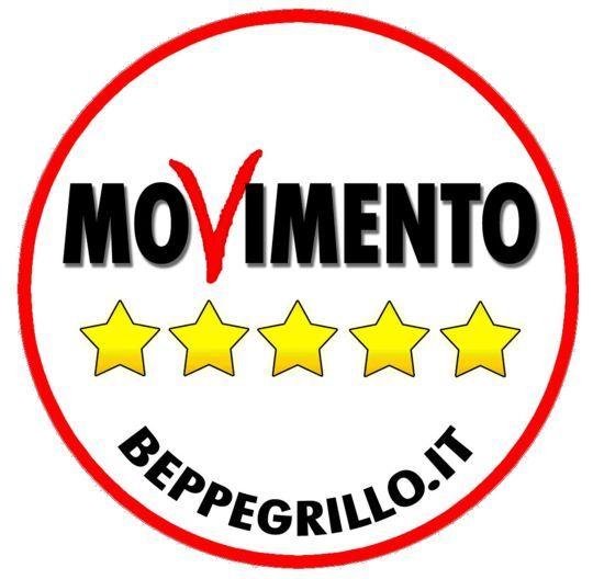 Il simbolo vero del Movimento Cinquestelle, quello ammesso dal Ministero dell'Interno, che ha invece bocciato il simbolo copia farlocco, presentato per escludere il Movimento dalle elezioni.