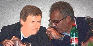 Gianni Alemanno (Pdl) e Nicola Adamo (Pd), quadro digitale.