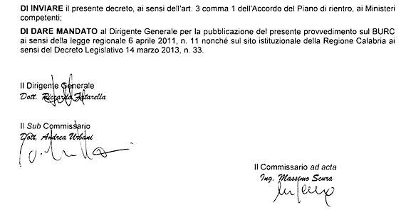 Firma Fatarella su Dca 89 del 2015