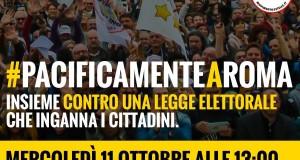 manifestazione pacificamente a roma